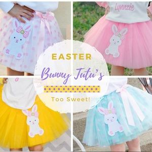 Other - Embroidered Easter Bunny Tutu's!